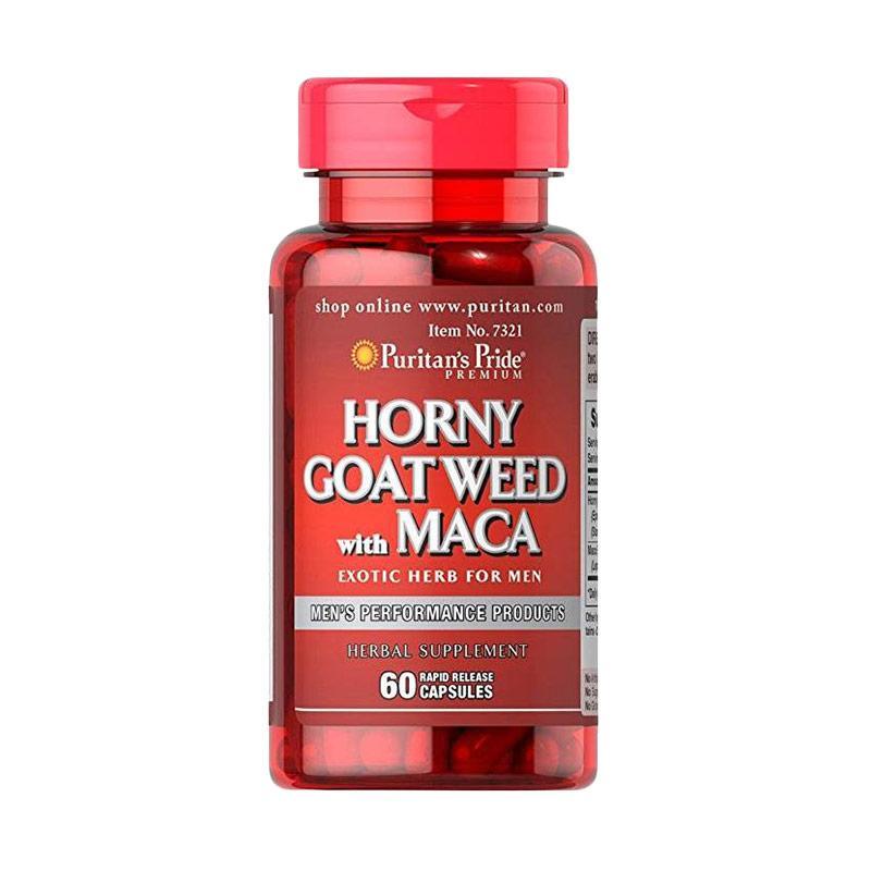 Puritan's Pride   - Horny Goat Weed with Maca 500 mg / 75 mg